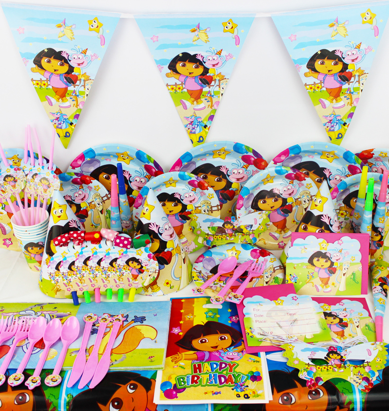 ... Party Decoration Set Dora Theme Party Supplies Baby Birthday Party