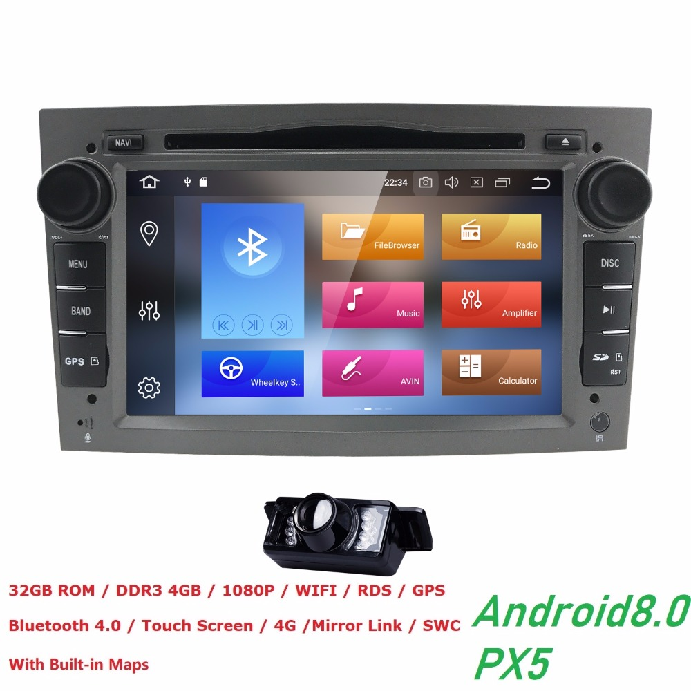 Android8.0 Capacitive Screen 2Din 7''CarDVD Player For VauxhallOpelAntaraVECTRAZAFIRAAstra H G J Canbus FM GPS BT DVBT 4+32