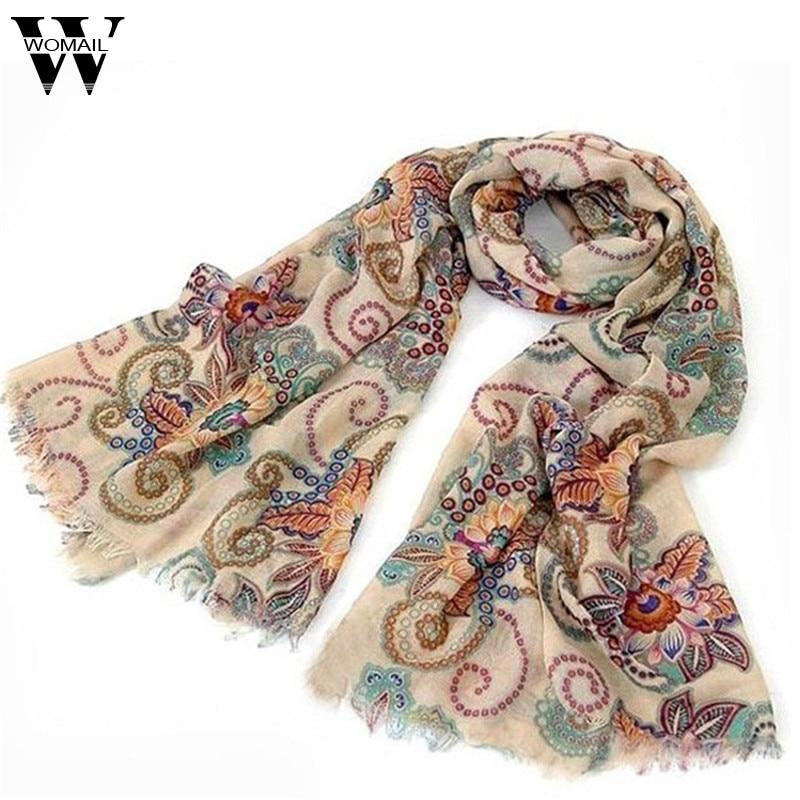 Amazing 170cm*80cm Vintage Autumn Winter Scarves Women Ladies Scarf Wrap Shawl New beauty print soft Scarf