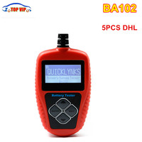 5ピースquicklynks BA102 12ボルトバッテリーアナライザーテスター高販売Ba102検出悪い車携帯バッテリーオートカーオートバイobd obd2