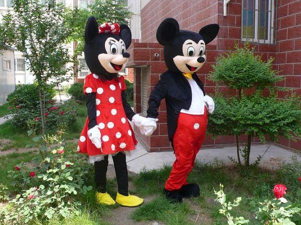 Mickey& Minnie Maskotki Kostium Cartoon Character's Birthday Party Cosplay Stroj Defense Logistics Service Free Shipping