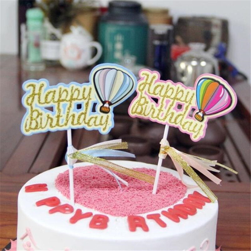 5PCS New Cartoon Happy Birthday Cake Hat Creative Children Kids Adult Party Decoration Baking Tool In Decorating Supplies From Home Garden On