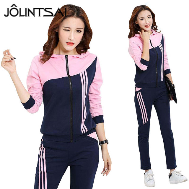 Plus Size Clothing 2017 Brand Women Spring Autumn Fashion 2 Piece Set Tracksuits Zipper Hooded Hoodies and Pants Sporting Suits