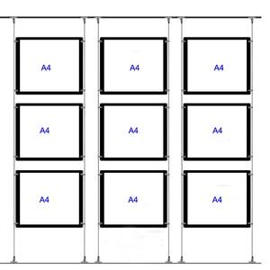 Image 5 - (5Unit/คอลัมน์) A4เดี่ยวEstate Agents LEDป้ายแสดง,LED Illuminatedกระเป๋าแนวตั้งและแนวนอนPosterDisplays