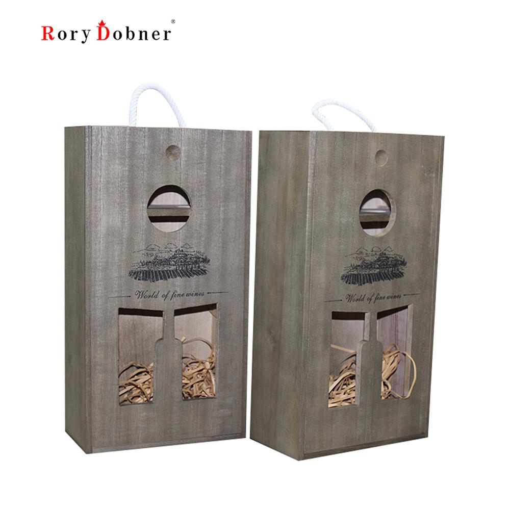 caja de vino botella de vino caja de regalo vino de bodega de madera