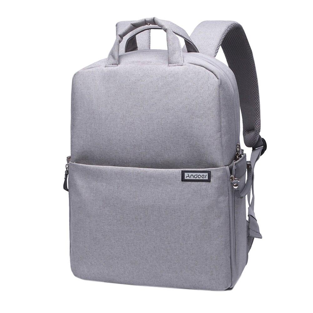 Andoer DSLR Camera Bag Water-resistant Shockproof Video Bag Backpack Shoulder Bag for Nikon Canon Pentax Sony with Rain Cover bag