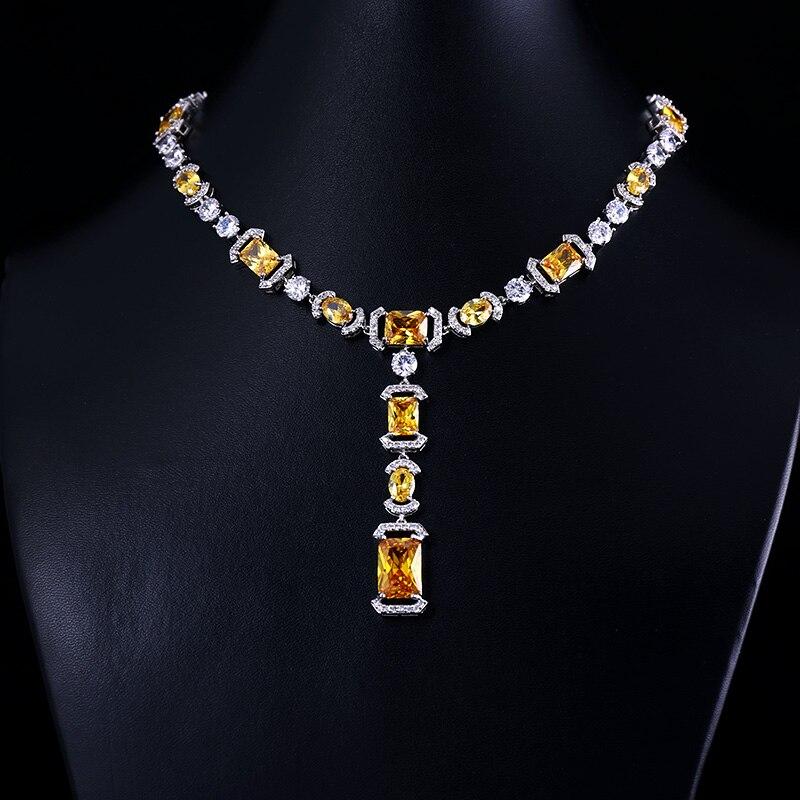 ZIRCON EARRINGS NECKLACE ACCESSARIES Bridal-Jewelry-Set Wedding-Dress CRYSTAL BRILLIANT