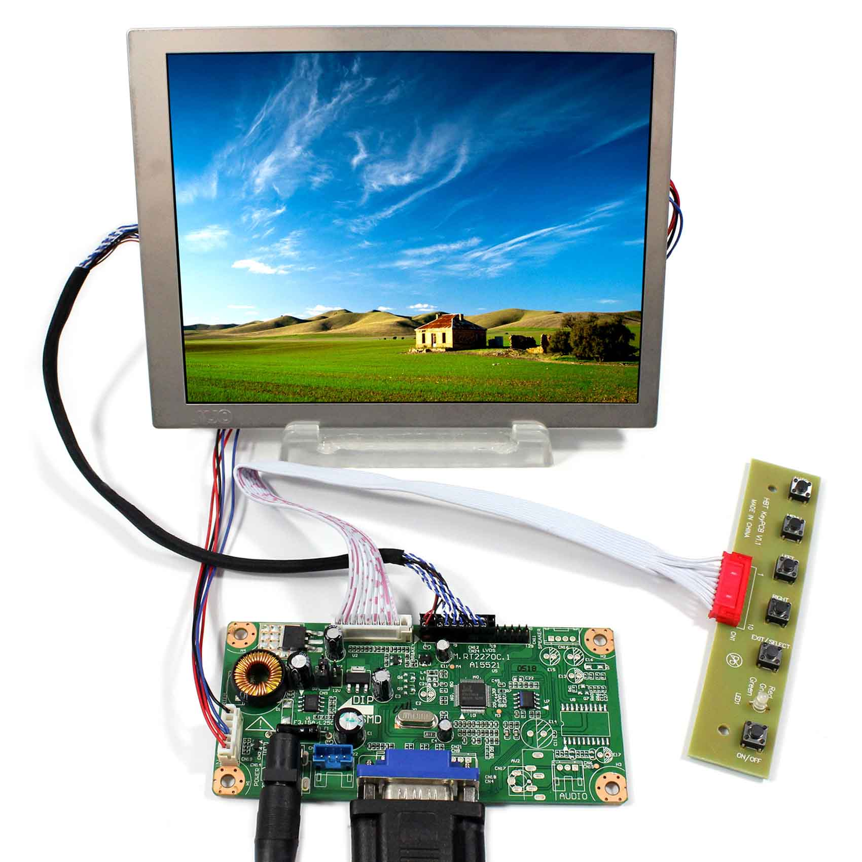 "HDMI DVI VGA LCD Controller Board  For 6.5/"" G065VN01 V2 640x480 LCD Screen"
