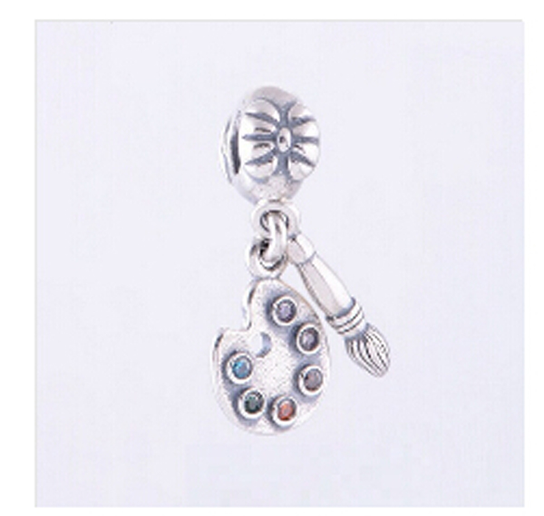 925 Sterling Silver Charms Brush Crystal Pendant European Charm Beads Fit Bracelet Bangle Original Jewelry Making 925 sterling silver charms brush crystal pendant european charm beads fit bracelet bangle original jewelry making