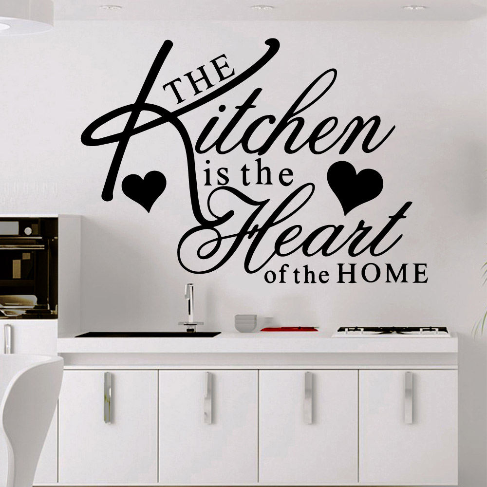 Fashion kitchen heart Wall Stickers Self Adhesive Art Wallpaper vinyl Background Decal Kitchen Room Mural