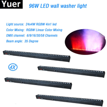 цена на 4Pcs/Lot LED Wash Wall 24x4w RGBW 4in1 Stage Light indoor with running horse functiuon DMX512 rgbw color mixing disco light dj