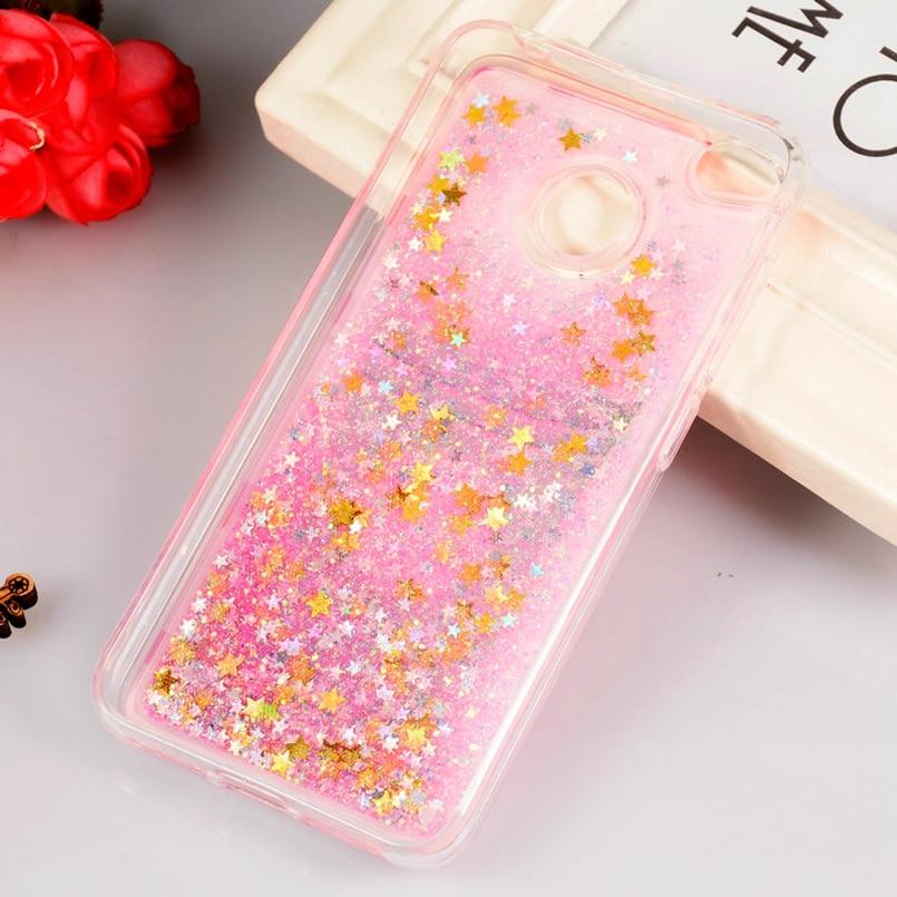 Fitted Cases Luxury Glitter Liquid Case For Xiaomi Redmi 4x Case Cover For Xiomi Redmi 4a Case Pink Flaming Cover For Xiaomi Redmi 4x 4a Case High Quality Goods