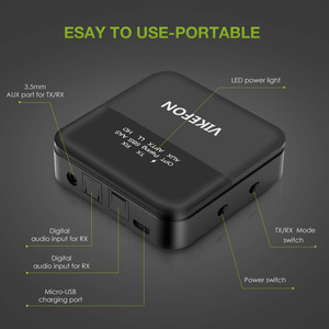 Image 5 - Bluetooth 5.0オーディオトランスミッタレシーバ音楽CSR8675 aptx hd ll低レイテンシテレビpc btワイヤレスアダプタrca/spdif/3.5ミリメートルauxジャック