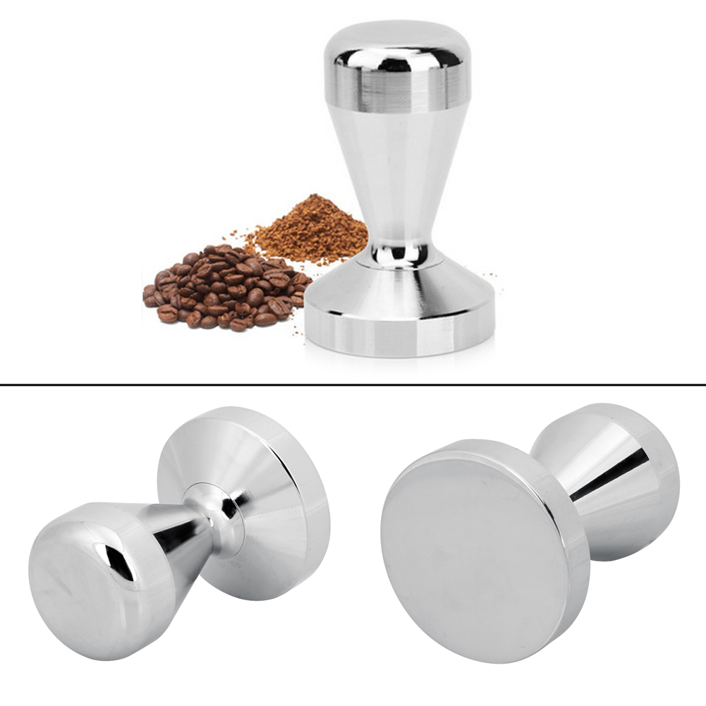 High Quality Stainless Steel Coffee Tamper 51/57.5mm Base Coffee Bean Pressure Powder Hammer Coffee Pressure Bar
