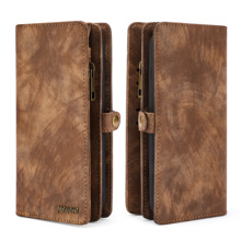 Multifunctional Business Luxury Leather Wallet Zipper Case Detachable Magnetic Back Cover For Samsung galaxy NOTE9
