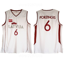 6aad13a6a350 Ediwallen High Quality 6 Kristaps Porzingis Jersey Men White Color Team  Latvija Basketball Jerseys Sale For
