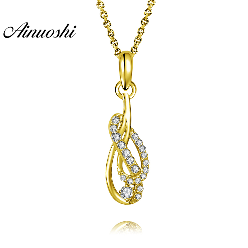 AINUOSHI 10K Solid Yellow Gold Pendant Lines Twisted Pendant SONA Diamond Women Men Jewelry Twisted Pattern Separate PendantAINUOSHI 10K Solid Yellow Gold Pendant Lines Twisted Pendant SONA Diamond Women Men Jewelry Twisted Pattern Separate Pendant