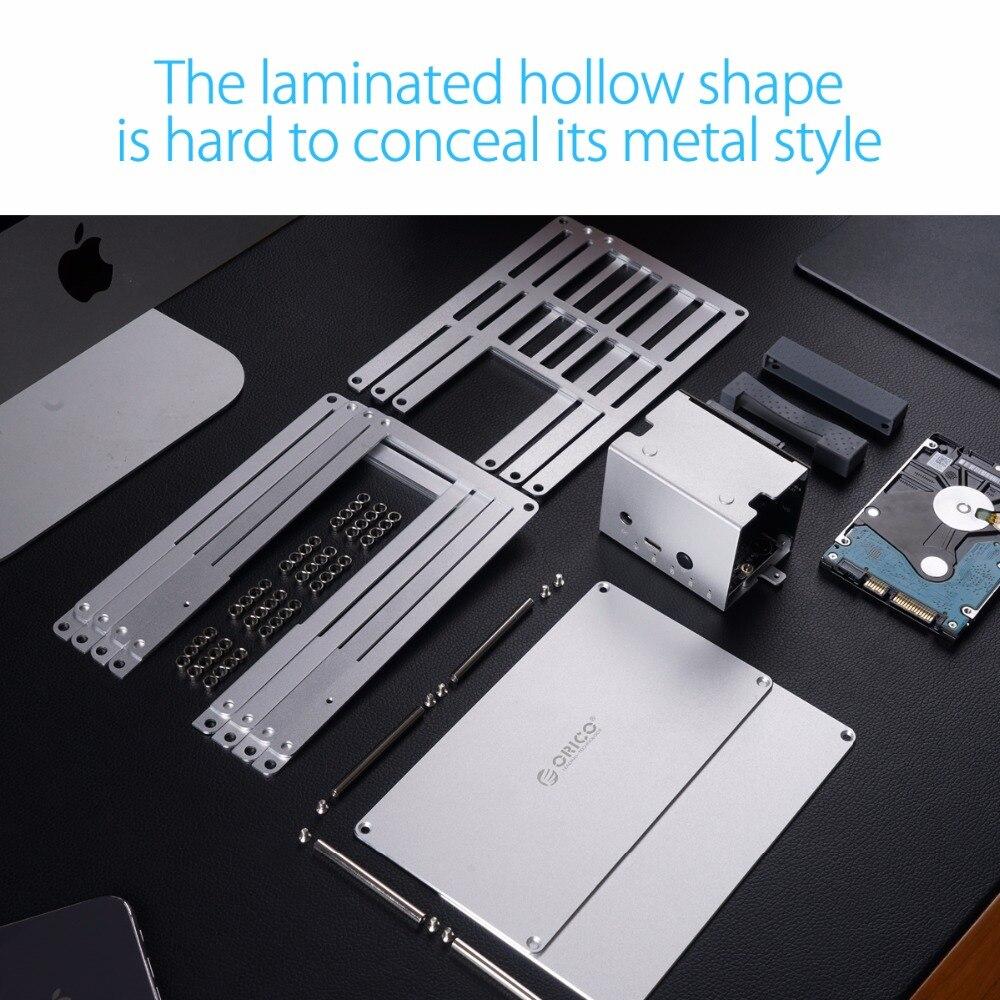 ORICO 2.5 3.5 pouces bricolage Cas HDD SATA à USB 3.0 SSD adaptateur haute vitesse Boîte Boîtier de Disque Dur Pour Samsung Seagate SSD 20 TB MAX - 4