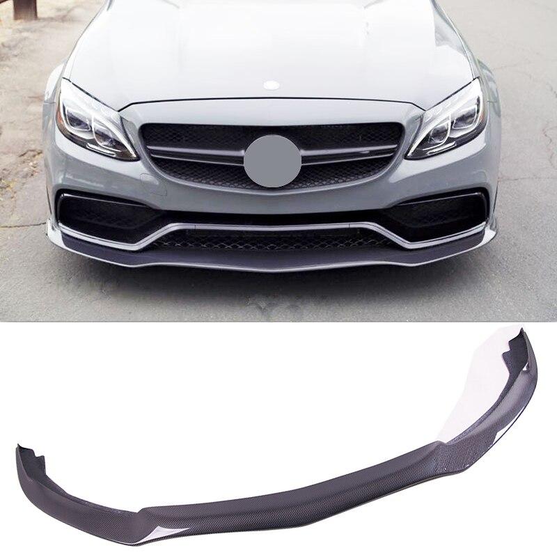 PS M Style Carbon fiber 4Door Front Lip Spoiler Fit For BENZ W205 C63
