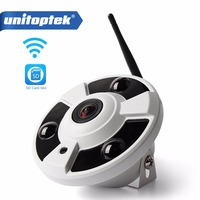 HD 1080P WIFI IP Camera Wireless Audio CCTV Wi Fi Cam Fisheye 180 360 Degrees Panoramic