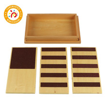 Montessori Kids Toy High-Quality Touch Boards Rough & Smooth with Box Early Childhood Education Preschool