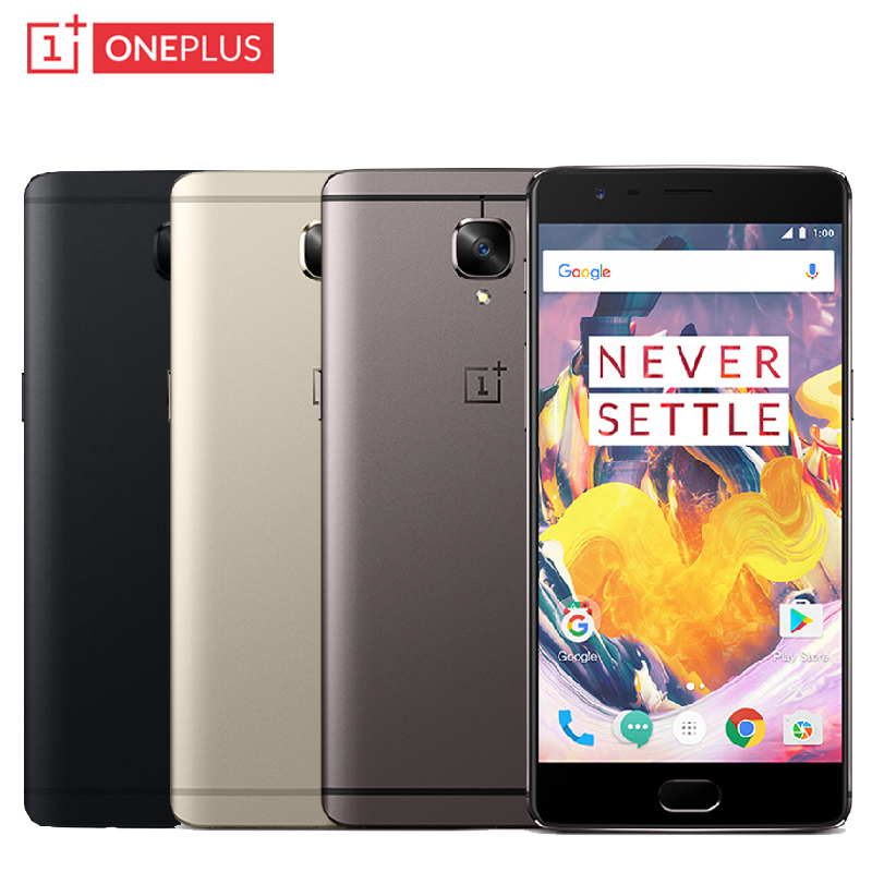 Original Oneplus 3T A3010 Cell Phone RAM 6GB ROM 128GB Snapdragon 821 Quad Core 5 5