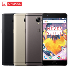 "Оригинал Oneplus 3 Т A3010 Сотовый Телефон RAM 6 ГБ ROM 128 ГБ Snapdragon 821 Quad Core 5.5 ""Android 6.0 16MP Отпечатков Пальцев NFC Смартфон"