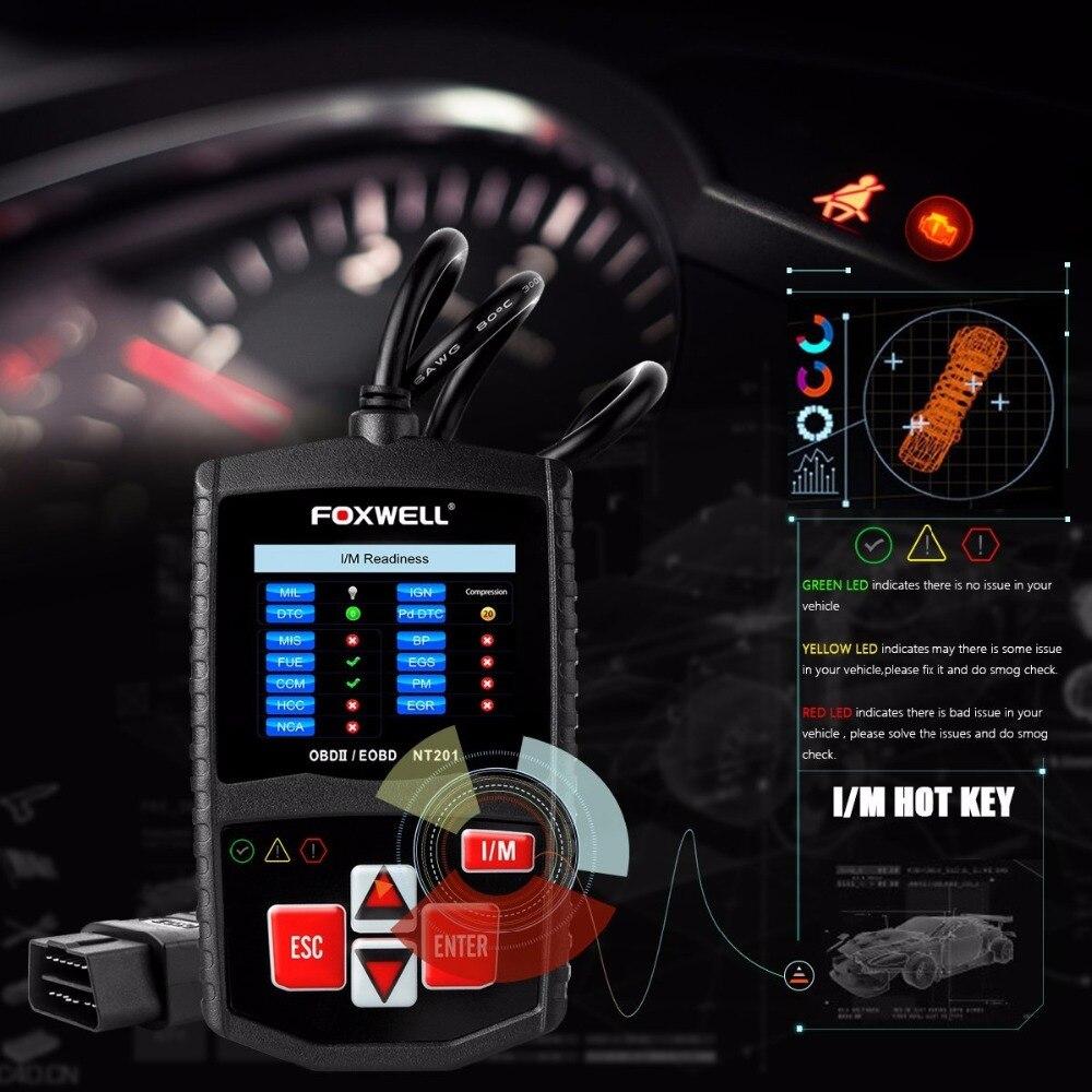 OBD 2 Auto Auto Scan Diagnostic Tool Besser als ELM327 Foxwell NT201 OBD2 Scanner Automotive Motor Code Reader Schalten sie MIL