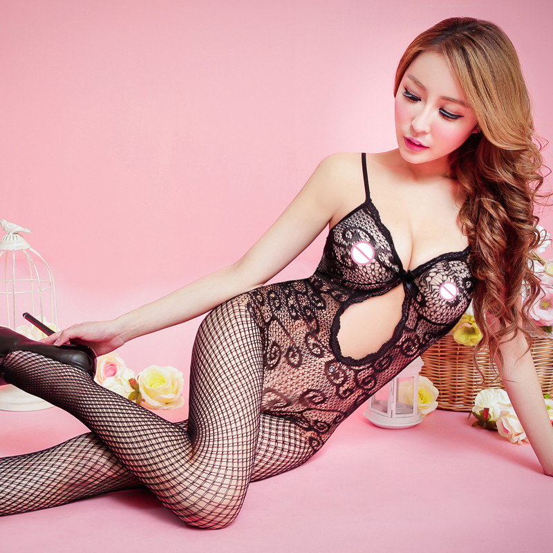 Buy OXOSEXY hollow women sexy lingerie hot Sexy bodysuit Open Crotch Stockings mesh Fishnet Sheer sexy costumes erotic Lingerie 775