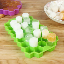 DIY Silicone 37 Grids Ice Cube Tray Cream Mold Maker Honeycomb Fruit