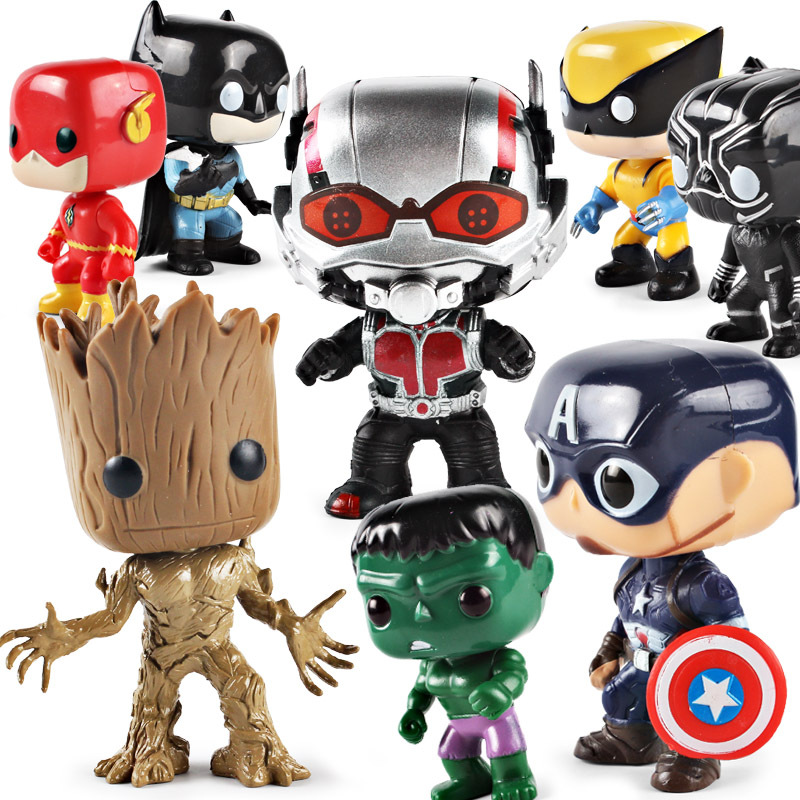DC Justice League Marvel Avengers Super Hero Characters Model Vinyl Action & Toy Figures for Children