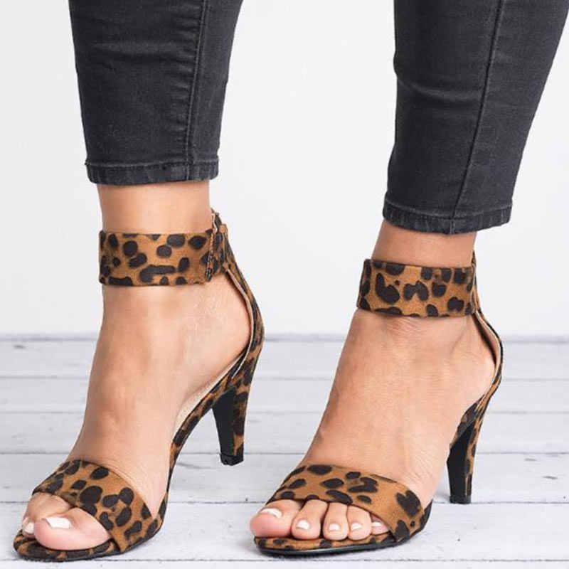 Frauen Sandalen 2019 Mode Sommer Schuhe Frauen Peep Toe Dünne Heels Sandalen Plus Größe 43 Casual Zapatos Mujer 5 cm frauen Heels