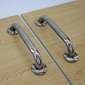 200mm stainless steel back to back handle wooden door pull one pair