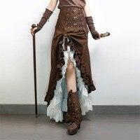 Pre sell: Steampunk Victorian Ruffled Long Skirt Women's Vintage High Waist Skirt