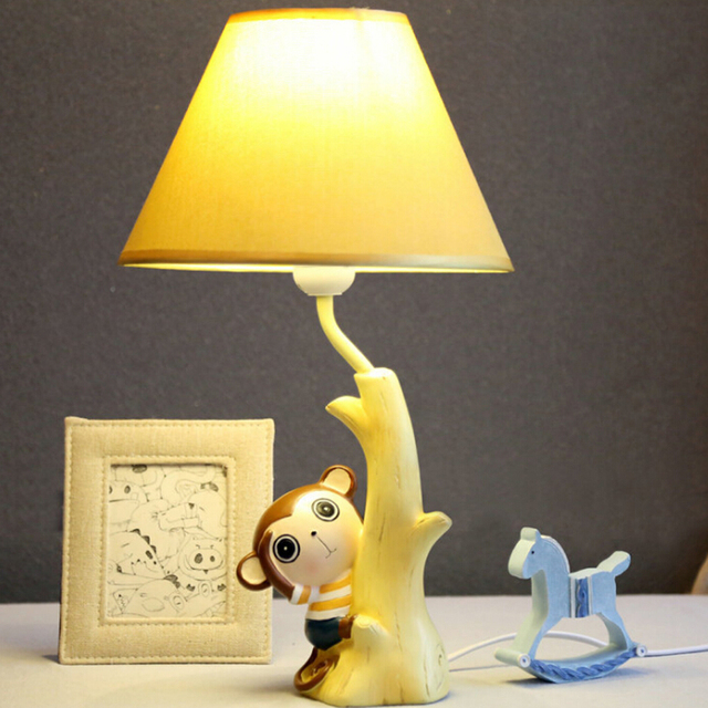 Meng Monkey Children Room Desk Lamp 220v In Led Desk E14 Led Table Lamp  Child Switch