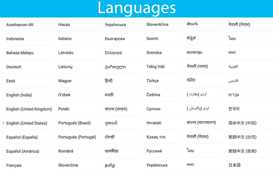 Redmi Note 4 languages MIUI 9