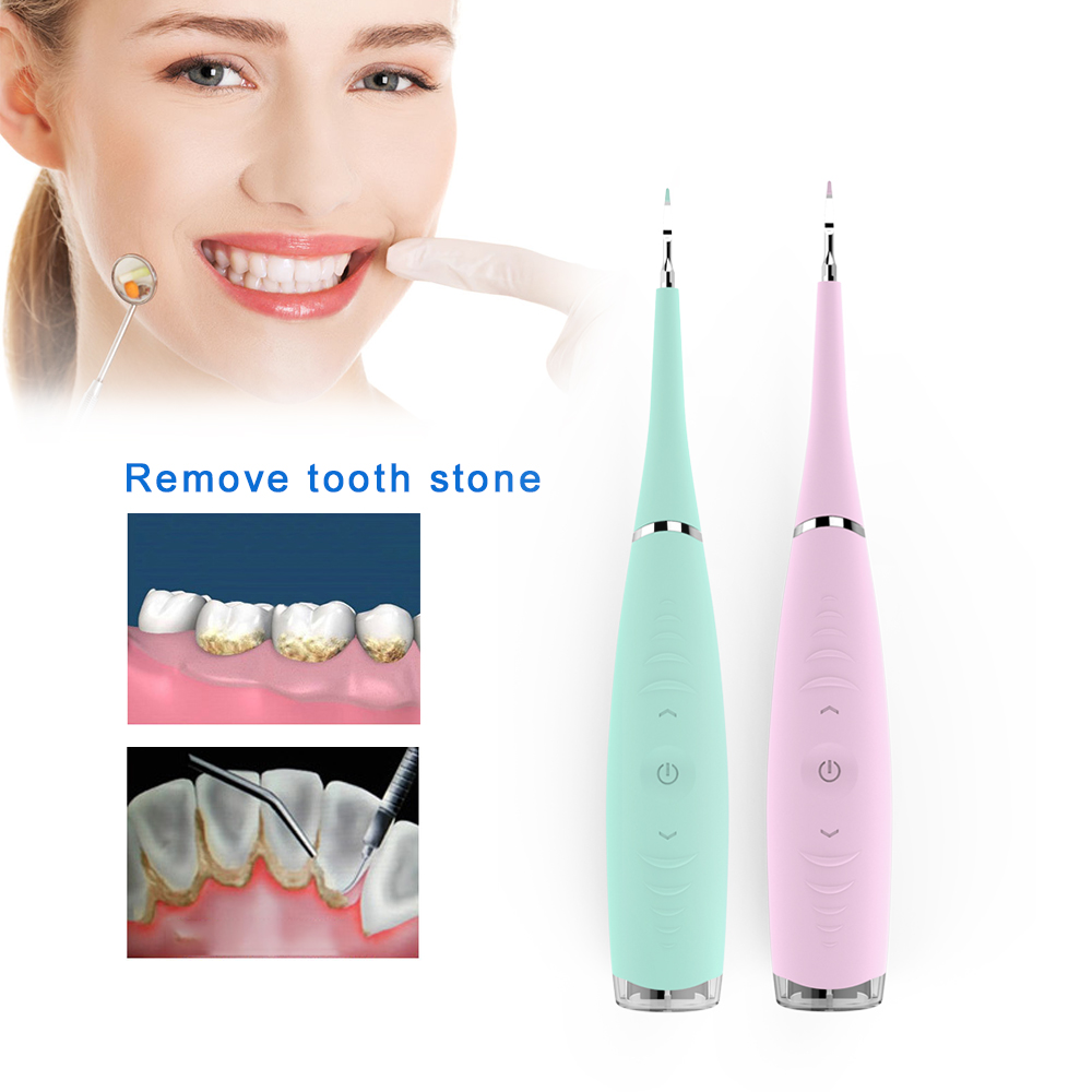 Ultrasonic Dental Scaler Tooth Calculus Remover Tooth Stains Sonic Electric Toothbrush Rechargeable Silicone Dental Water Jet