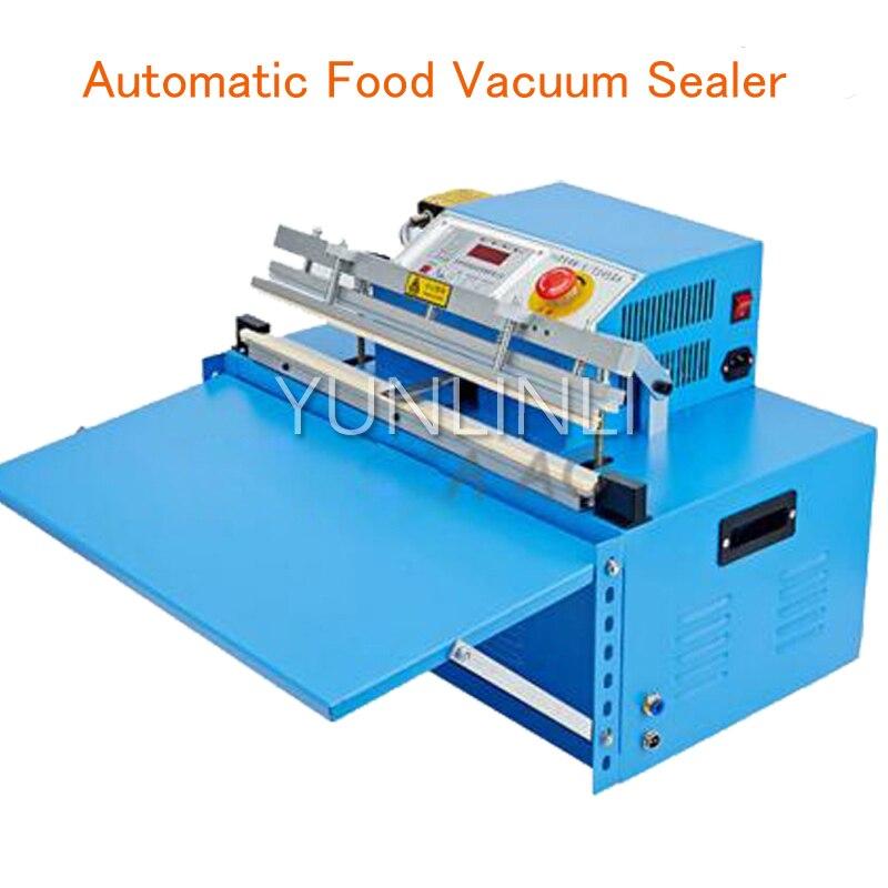 Automatic Food Vacuum Sealer Food Packing Machine Continous Bag Vacuum Sealing Machine Food Saver free shipping desktop vacuum packing machine for plastic bag food sealing macine