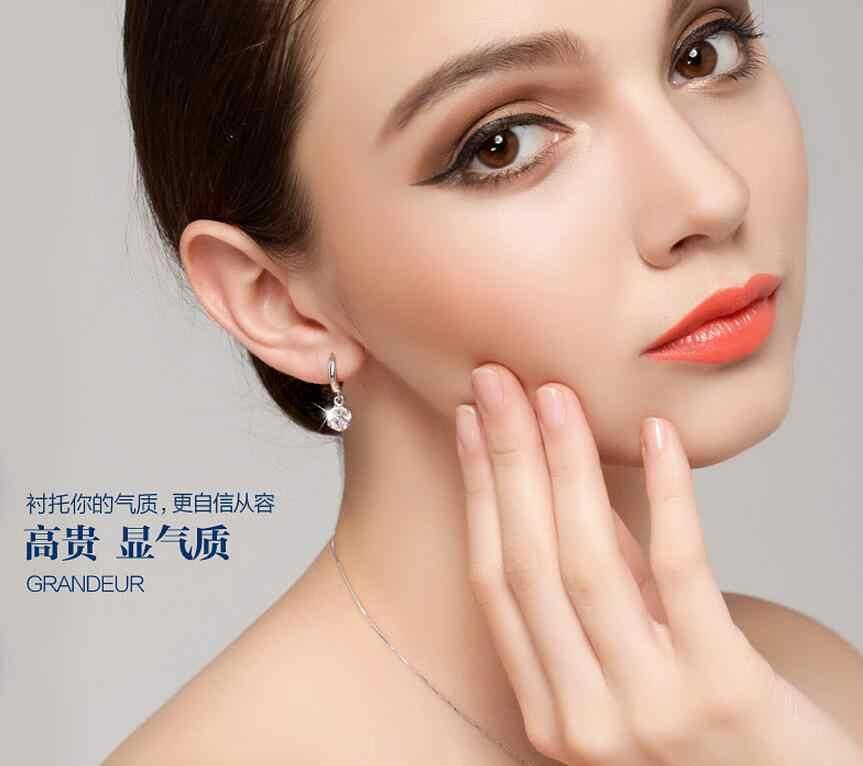925 Sterling-silver-jewelry Crystal Ball AAA CZ Z Stud Earrings For Women Earings Sterling Silver Jewelry VES6085