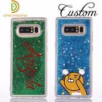 Siliconen Glitter zand mobiele telefoon case voor Samsung galaxy note 8 s7 edge s8 s9 plus c5 c7 c9 A3 A5 A7 J3 J5 J7 2017 2018 custom