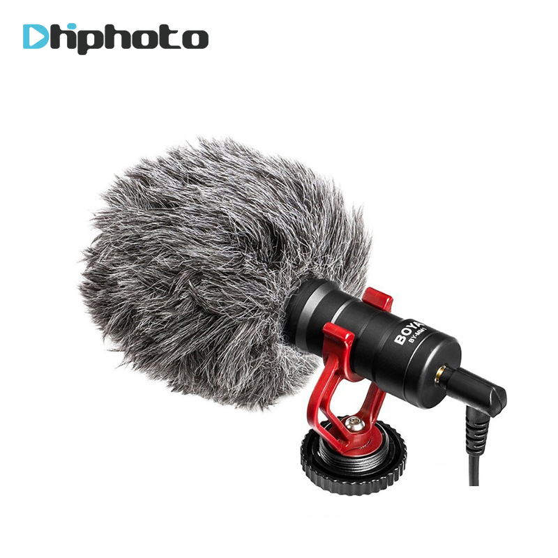 BOYA BY-MM1 Compact On-Camera Video Microphone Youtube Vlogging Recording Mic for iPhone HuaWei Smartphone DJI Osmo Canon DSLR  boya by wm5 lavalier clip on mic audio studio recorder wireless microphone microfone for canon sony gopro dslr camera camcorder