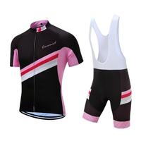 Pink Twill Design Cycling Clothing tops Breathable Cycling Jersey Bike bike top