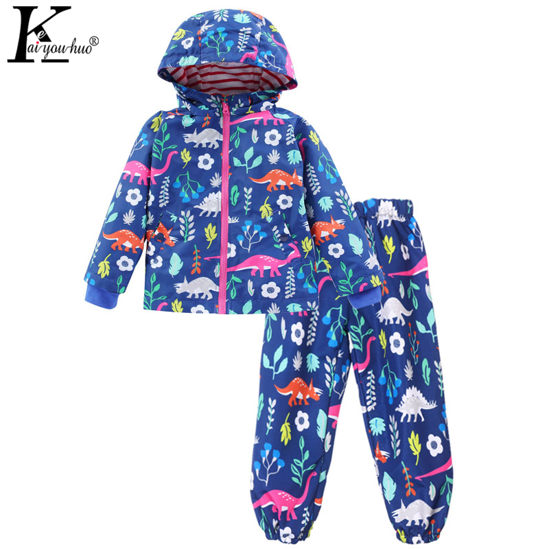 2018 Children Clothing Boys Sets Girls Sport Suit Windbreake Outfits Suits Costumes For Kids Clothes Sets Cartoon Boys Clothes db4282 davebella boys sport clothing set children navy sets kids clothes