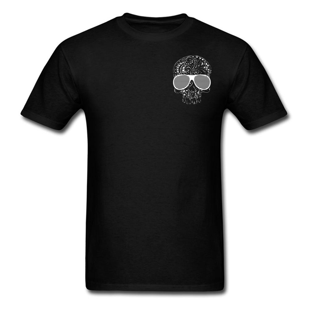 Illustration Skull T Shirts Geek Tees Summer Popular Cool T Shirs Mens Fashion Sleeved Pure Cotton Breathable Tshirts Rock N in T Shirts from Men 39 s Clothing