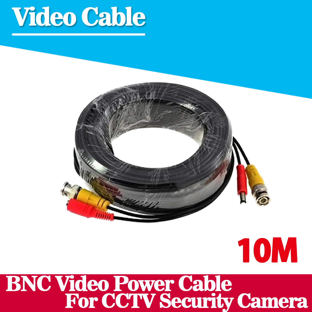 BNC cable 10M Power video Plug and Play Cable for CCTV camera system Security free shipping цена
