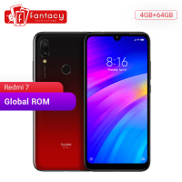 Global Rom Xiaomi Redmi 7 4GB RAM 64GB ROM Snapdragon 632 Octa Core Mobile Phone 12MP Dual AI Camera 4000mAh Large Battery