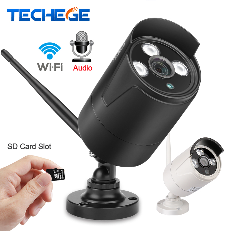 Techege Wifi Wired 2MP Security IP Camera Audio record ONVIF P2P Motion Detection With SD Card Yoosee Remote Viewing IR 20M wifi wired security ip camera 1080p 2 0mp onvif p2p ir cut motion detection with sd card remote viewing bullet cctv security cam
