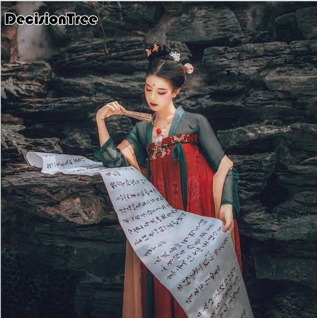 2019 new tang china national costumes traditional chinese hanfu dress folk dance ancient women clothing dynasty hanfu cosplay