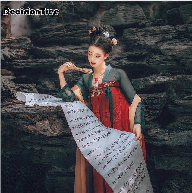 2019 summer tang china national costumes traditional chinese hanfu dress folk dance ancient women clothing dynasty hanfu cosplay