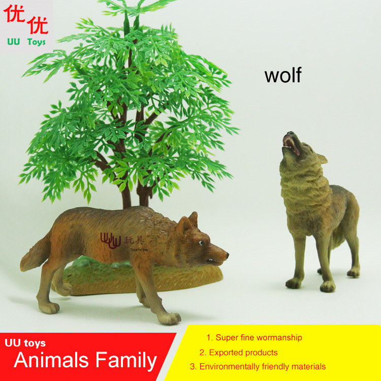 Action Figures: Wolf (Canis lupus) family pack Simulation model Animals kids toys children educational props easyway zoo mini wild animals action figures set figurines kids toys for children wildlife toys simulation animal model toy bear